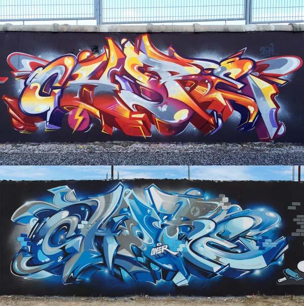 Graffiti art in Lisbon, Portugal by Chureoner