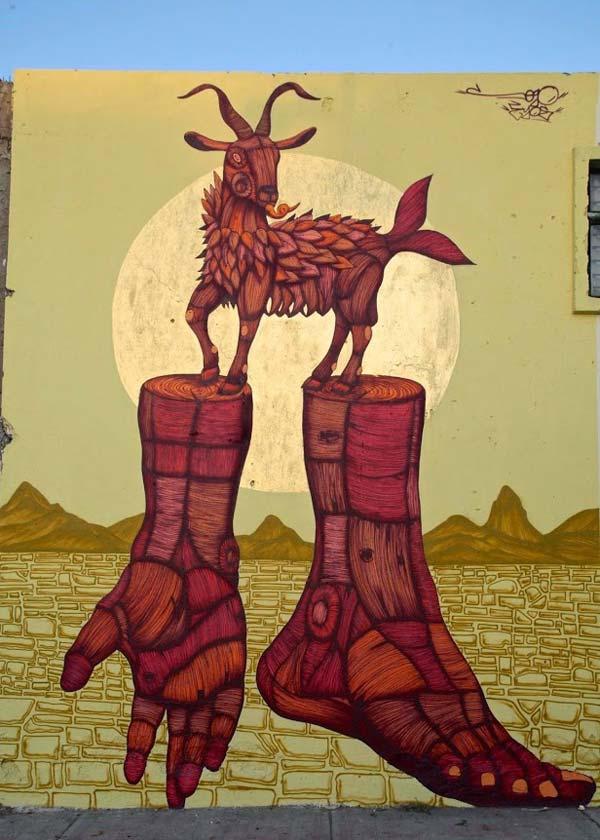 Great street art by urban artist Sego | stunning urban art, graffiti art, street art