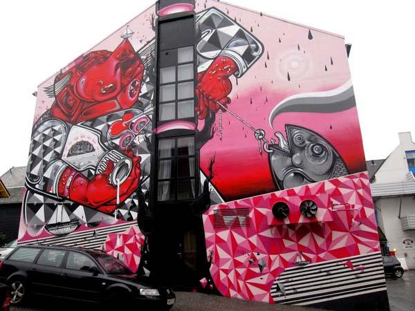 How and Nosm | stunning urban art, graffiti art, street art