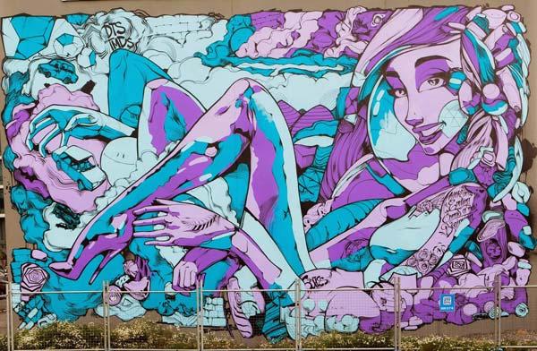 Large mural by Sofles | stunning urban art, graffiti art, street art