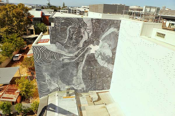 Perth, Australia by Italian street artist 2501