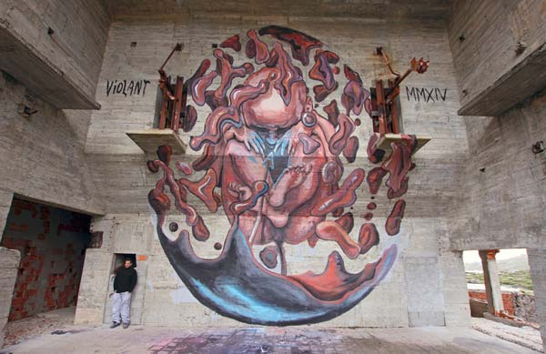 Portuguese artist Violant | explore street art of the world