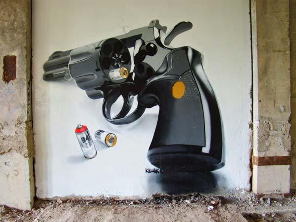 Russian street artist Kashak | explore street art of the world
