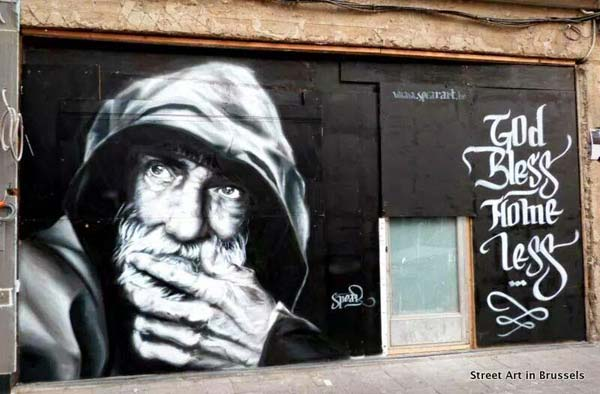 Spear in Brussels | explore street art of the world
