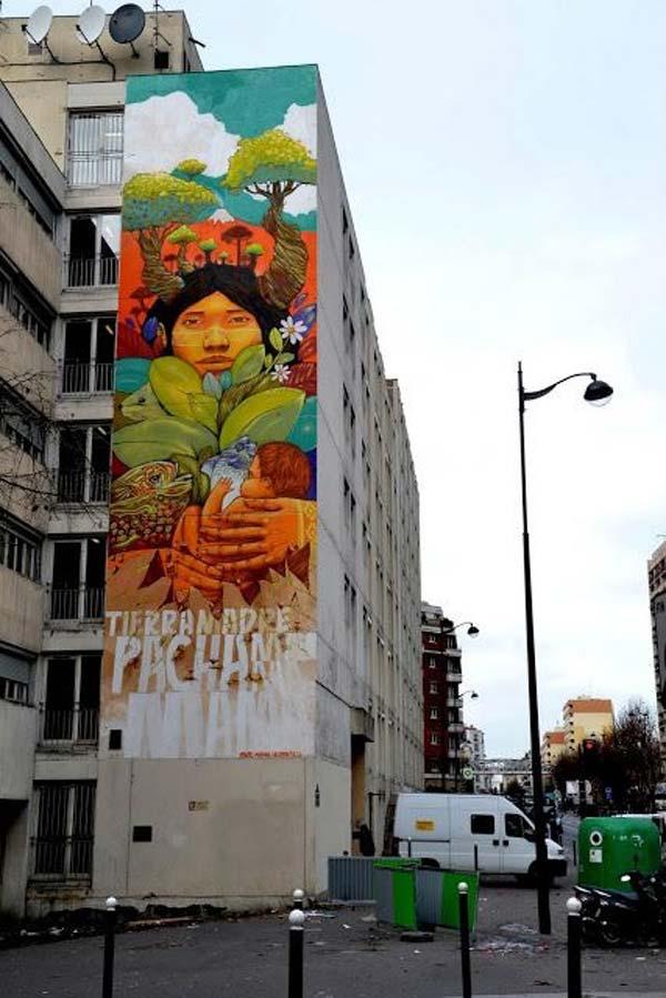 Street art by Alapinta Crew in Paris, France