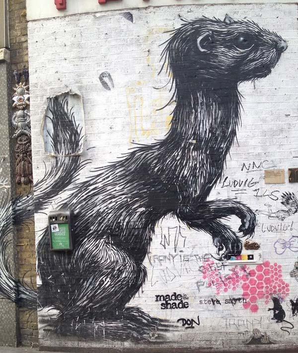 Street art by Belgian artist ROA | explore street art of the world