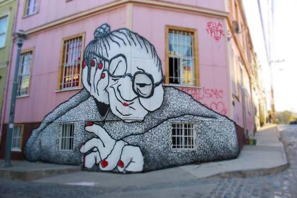 Street art by urban artists Ella & Pitr