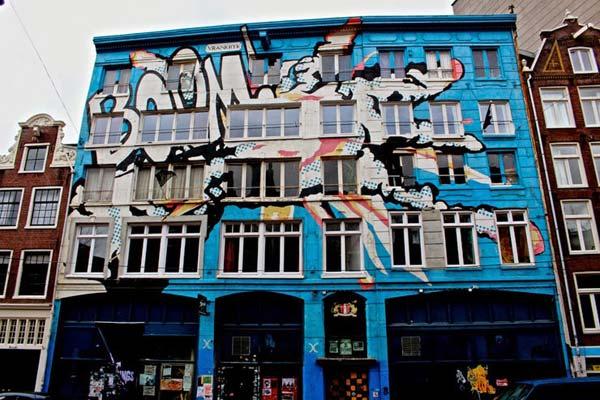 Street art in Amsterdam, The Netherlands by Vrankrijk | explore street art of the world