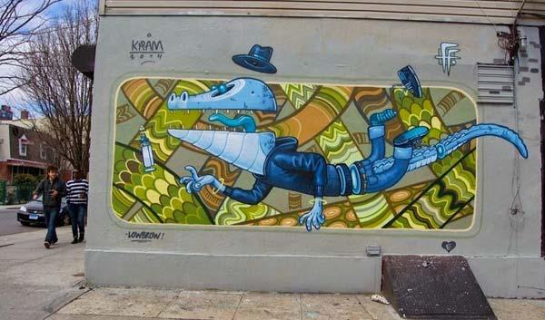 Street art in Brooklyn, New York City, USA by Kram | explore street art of the world