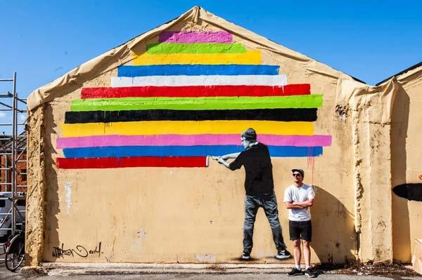 Street art in Italy by Norwegian artist Martin Whatson
