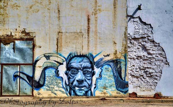 Street art in Mongolia (unknown artist)