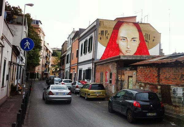Street art in Rome, Italy by Mr Klevra | explore street art of the world