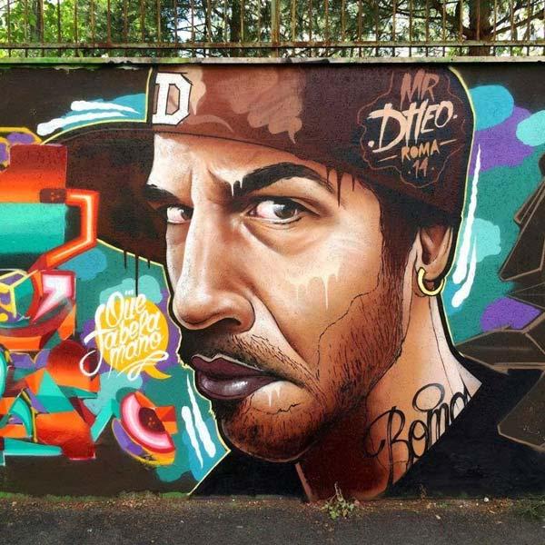 Street art in Rome, Italy by MrDheo