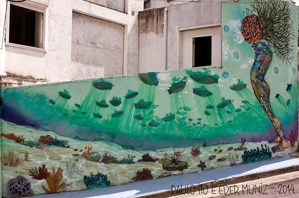Street art in Sao Paulo, Brazil by Paulo Ito and Eder Muniz | explore street art of the world