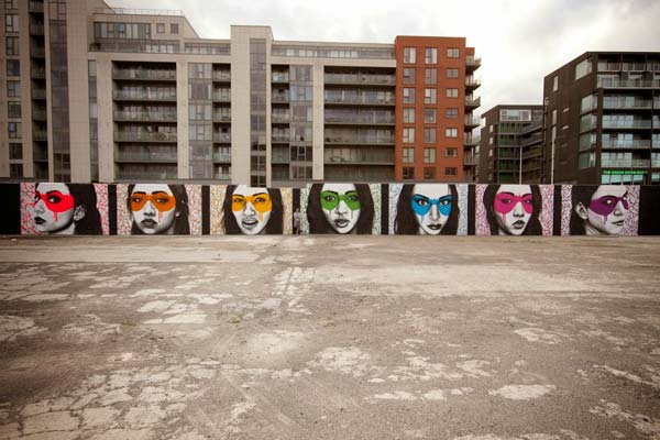 The Magnificent 7 in Dublin, Ireland by Fin Dac | explore street art of the world