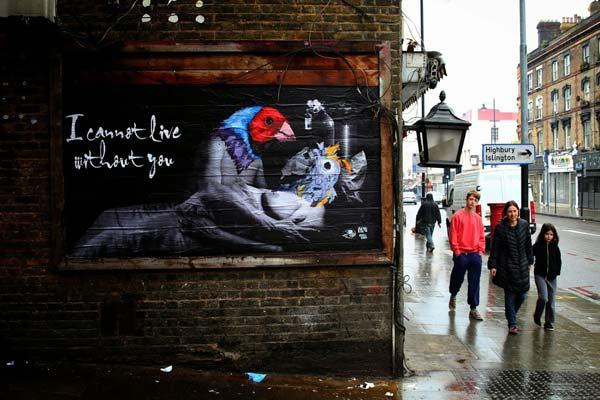 Vinz (Feel Free) in London, UK | explore street art of the world