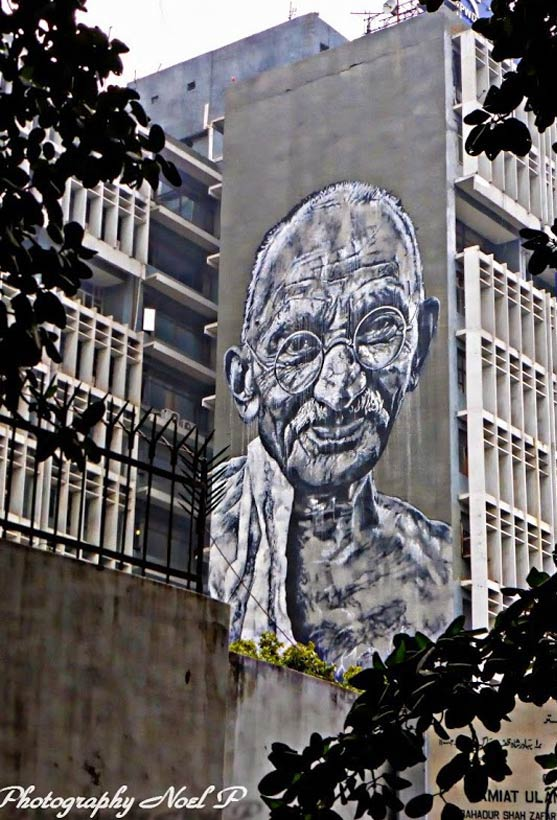Ghandi by ECB Hendricks & Anpu in Delhi, India (Photo by Noel Perez)