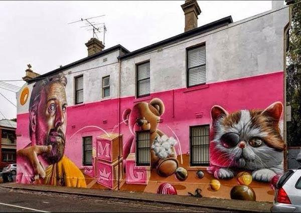 Large piece by Australian artist Smug