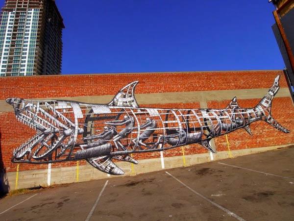 San Diego, California, USA by British artist Phlegm