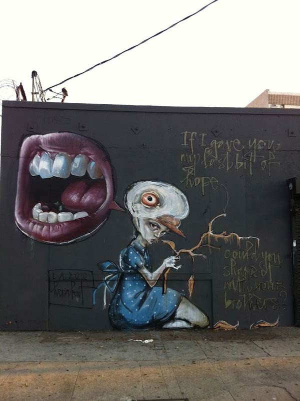 Street art by German artist Herakut