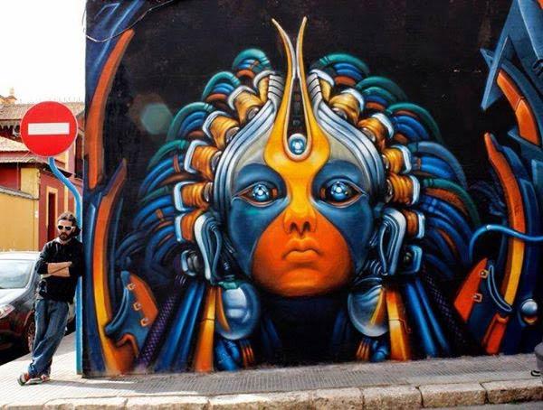 Street art in Alicante, Spain by Rudiart