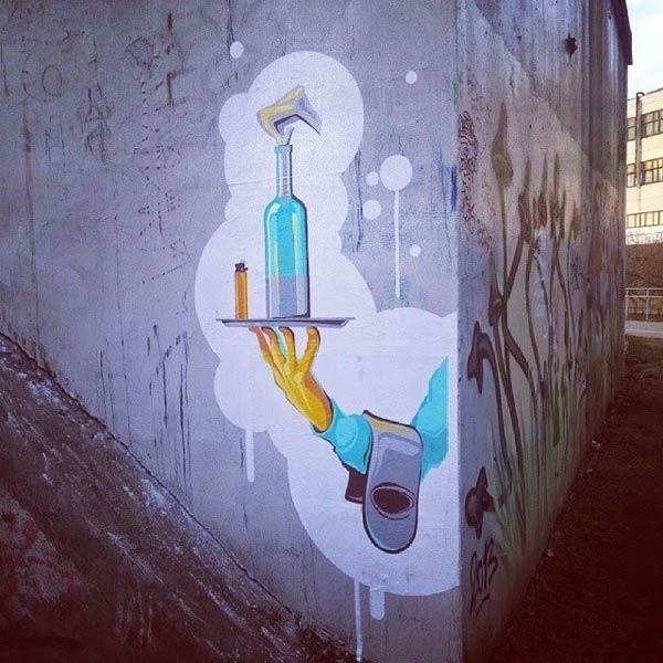 Street art in Minsk, Belarus (Photo by Andrei Shavlugo)