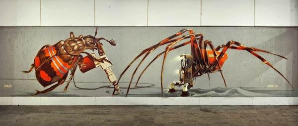 Street art in Munich, Germany by Onur & Wes21