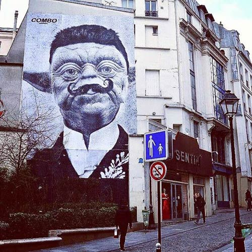 Street art in Paris, France by Combo Culture Kidnapper