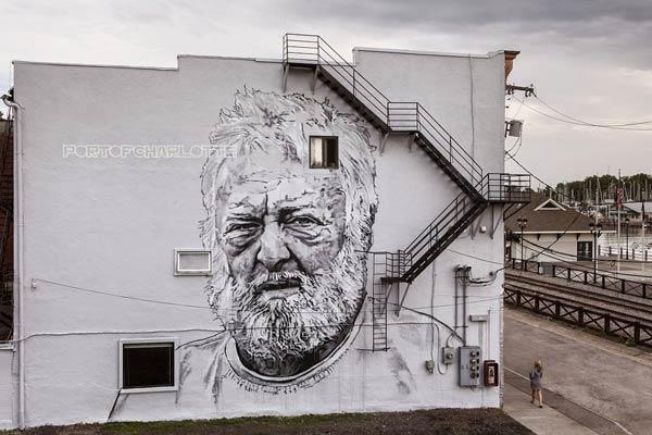 Street art in Rochester, USA by ECB Hendrik Beikirch