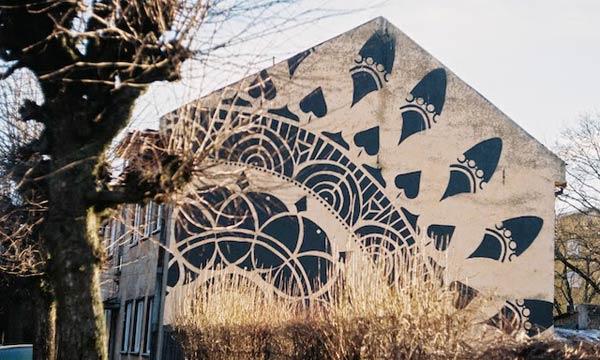 Street art in Tartu, Estonia by TAF (Photo by Marika Agu and Sirla)