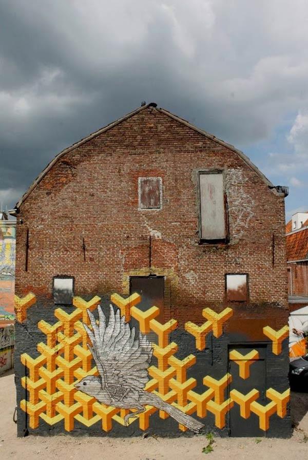 Urban art in Leeuwarden, Netherlands by Roy Schreuder