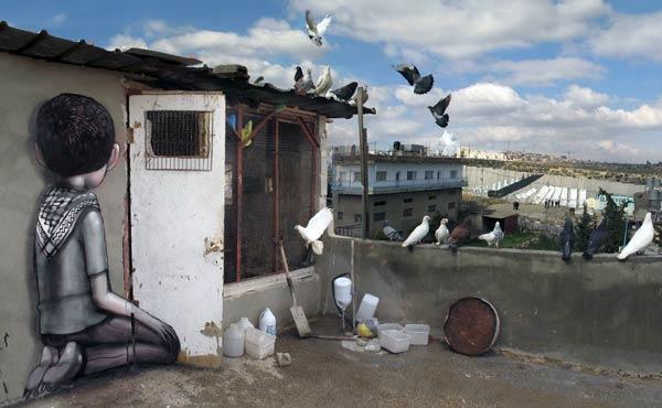 Urban art in Paris, France by French artist Seth