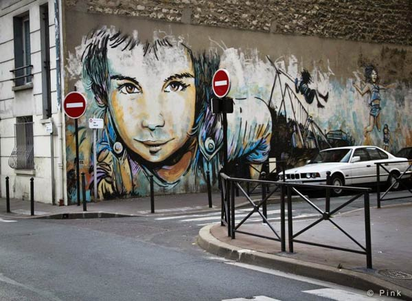 Alice Pasquini in Vitry Sur Seine, Paris, France