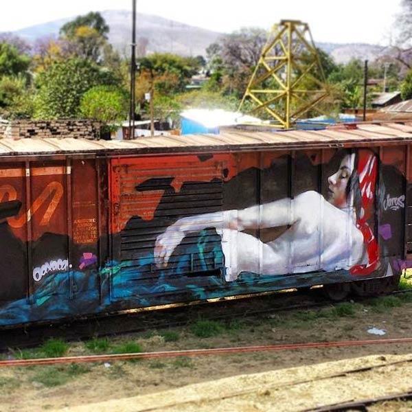 Street art by Jarus