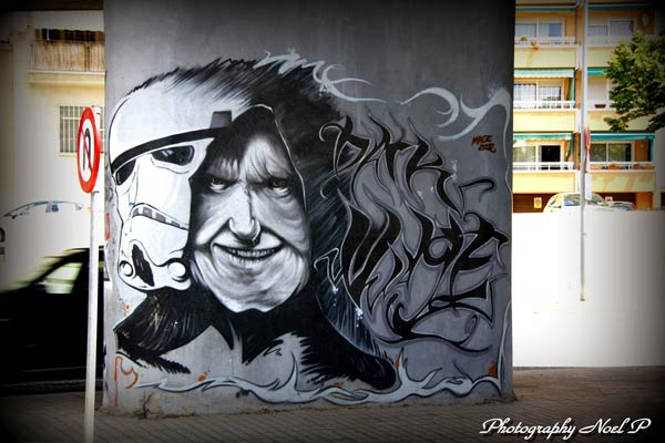 Star Wars urban art by Mage in Barcelona, Spain (Photo by Noel Perez)