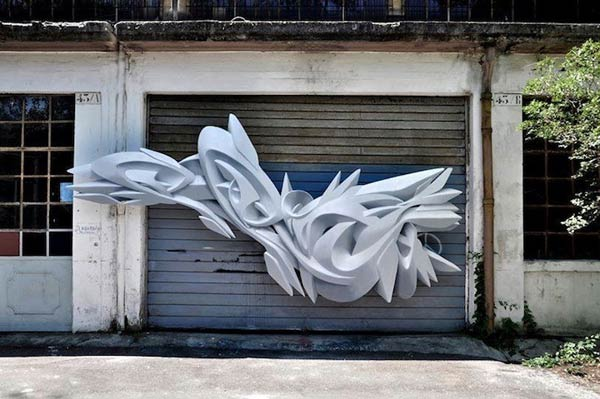 Street art by Italian artist Peeta