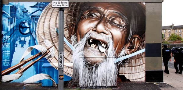 Street art by Smug One