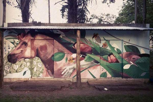 Street art in Armstron, Argentina by Fran Bosoletti