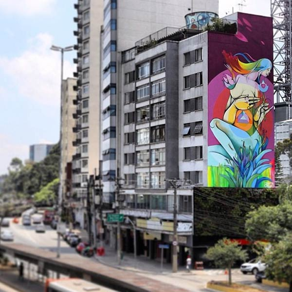 Street art in Brazil by Nove (Photo by SABrazil)