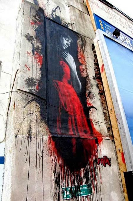Street art in Bristol, UK by artist Snik