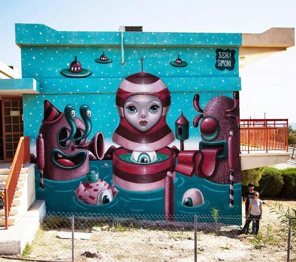 Street art in Cyprus by Argiris Ser and Simoni Fontana (Photo by Ayia Napa Street Art Festival)