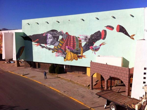 Street art in Juarez, Mexico by Malakkai & Arturo Damasco Collaboration