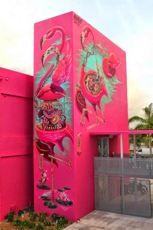 Street art in Miami, USA by Austrian artist Nychos for Art Basel (Photo by StreetArtNews)