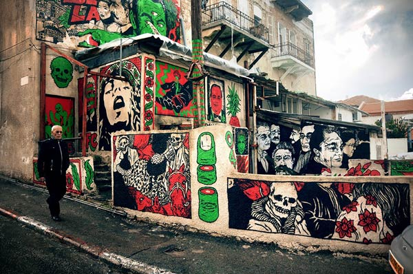 Street art in Wadi Nisnas, Haifa, Israel by Broken Fingaz