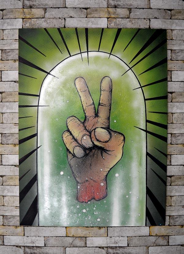 Mr Pilgrim Street Artist - Peace Preserved (2015) for Art for All the World