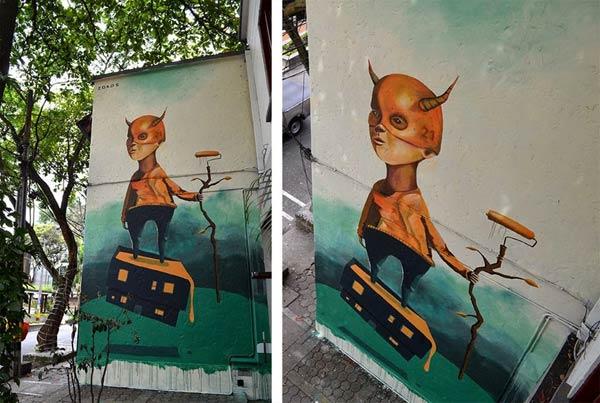 Street Art 2016- Medellin, Colombia by Zokos
