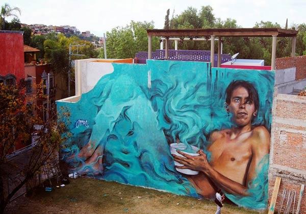 Street Art 2016- Street art in San Miguel de Allende, Mexico by Young Jarus