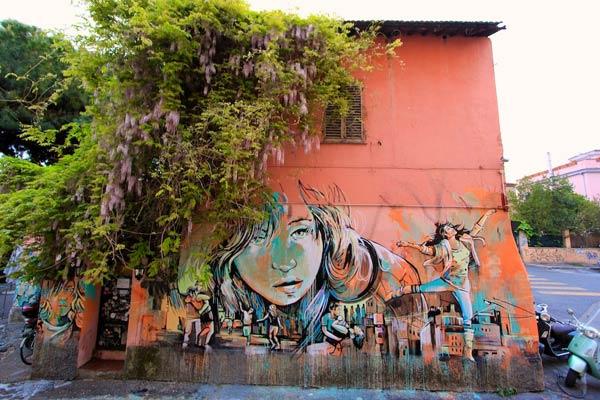 Alice Pasquini in Rome, Italy