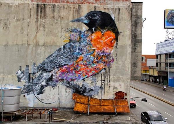 Street art in Maracay, Venezuela by Brazilian artist L7M