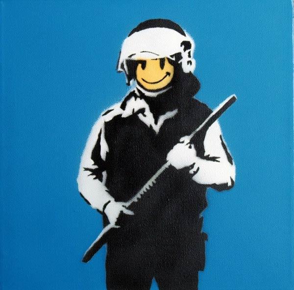 Banksy - Riot Cop (Andipa Gallery) War Capitalism & Liberty